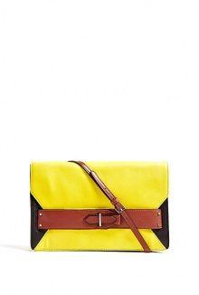 yellow colourblock folio clutch by 10 Crosby Derek Lam