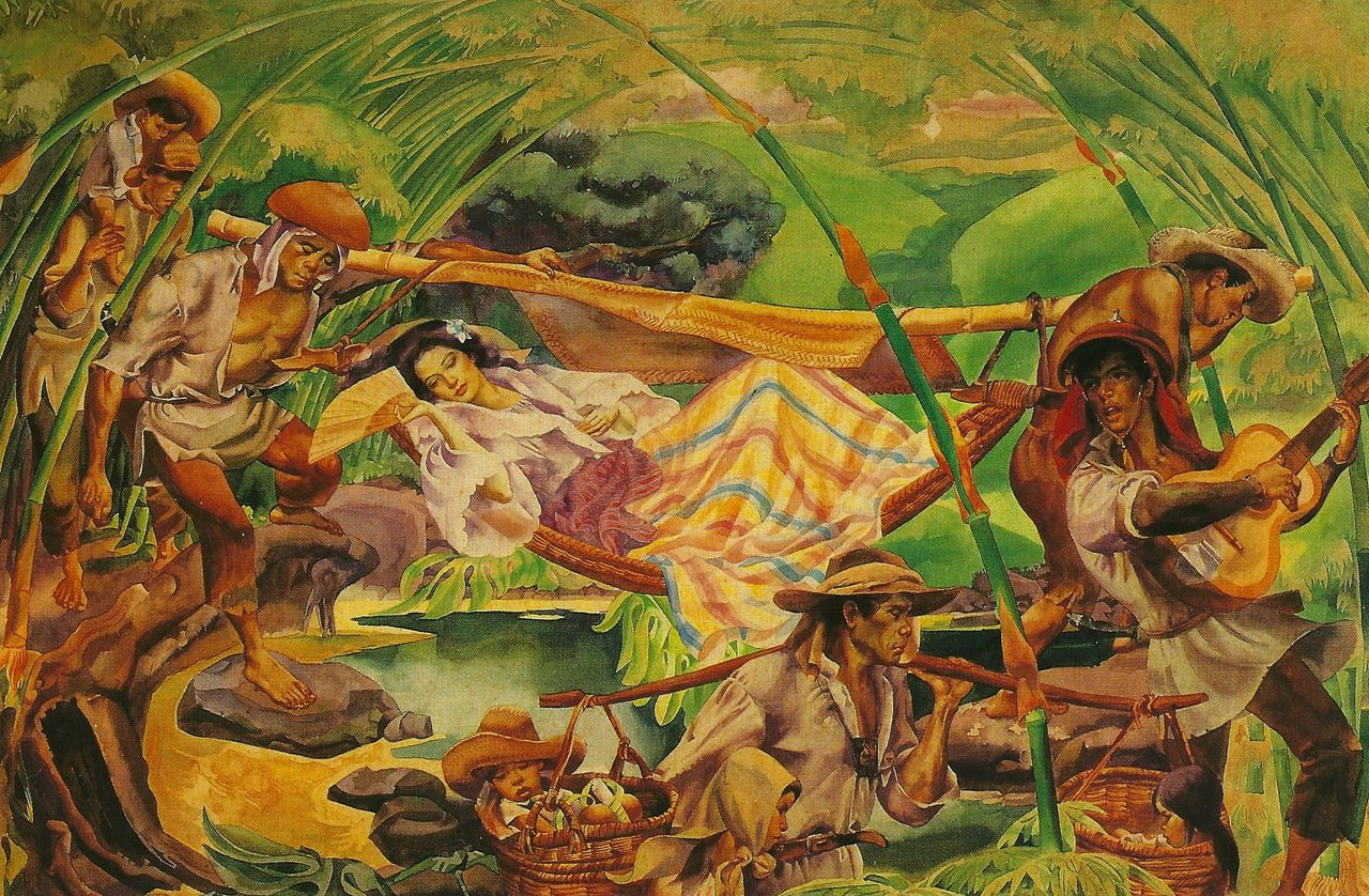 Carlos V. Francisco, Pilgrimage to Antipolo, 1960, Paulino