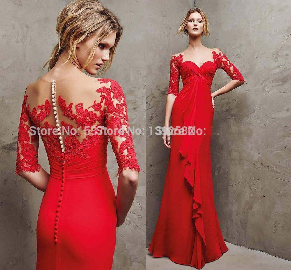 Vestido-де-феста-лонго-красное-вечернее-платье-с-кружевом-длинным-рукавом- вечерние-платья-халат-де-вечер.jpg (1000×927) 260473b3d4c6f