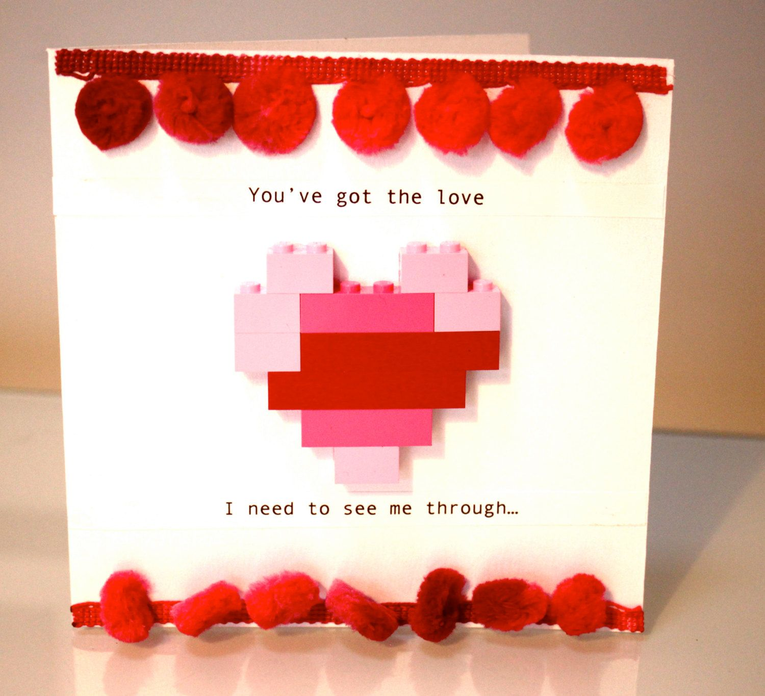 You\'ve Got The Love Lego Valentines Gift Card with Heart KeepSake ...