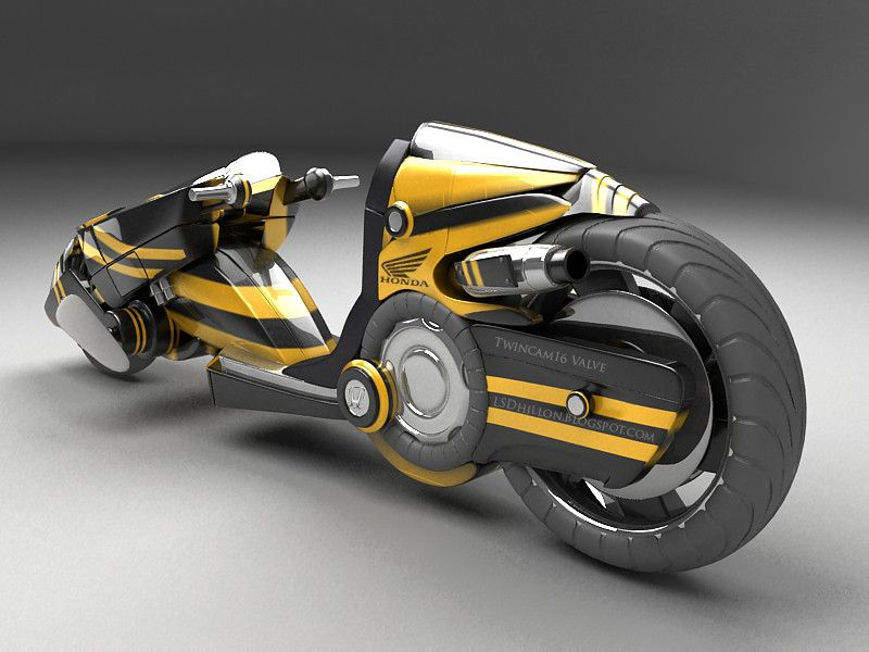 3d Model Sci Fi Motorcycle Futuristic Motorcycle Concept