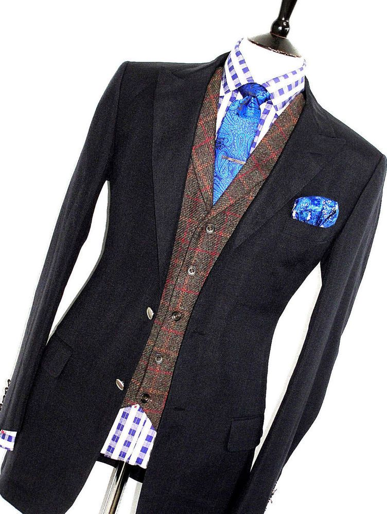 Mens Alfred Dunhill Navy 100 Mohair Sartorial Sports Suit Jacket Blazer 44r Fashion Clothing Shoes Accessorie Bespoke Suit Mens Black Shirt Bespoke Shirts