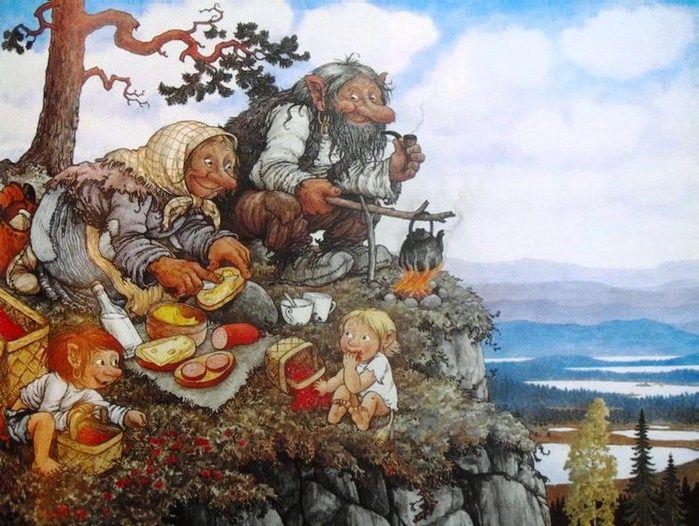 иллюстрации к норвежским сказкам