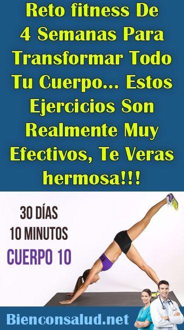 Reto fitness De 4 Semanas Para Transformar Todo Tu Cuerpo… Estos Ejercicios Son Realmente Muy Efecti...