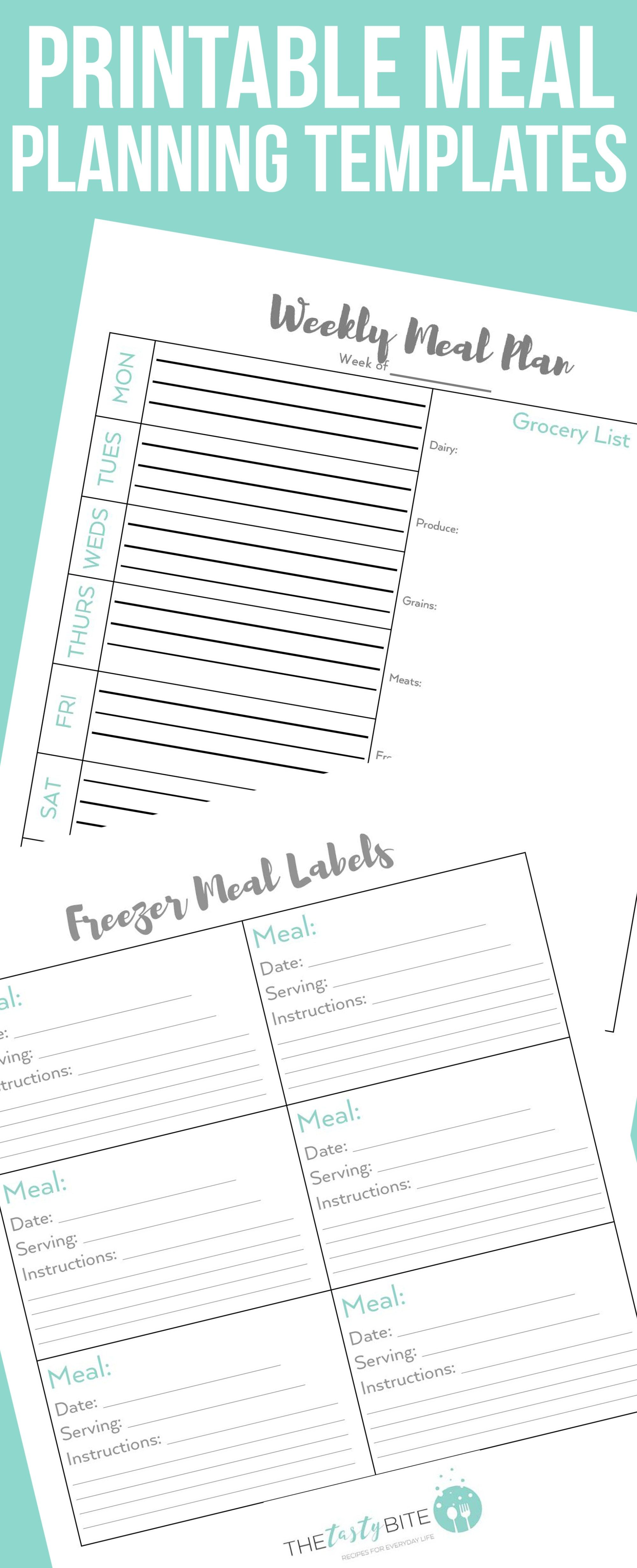 Meal Planning Templates To Simplify Your Life