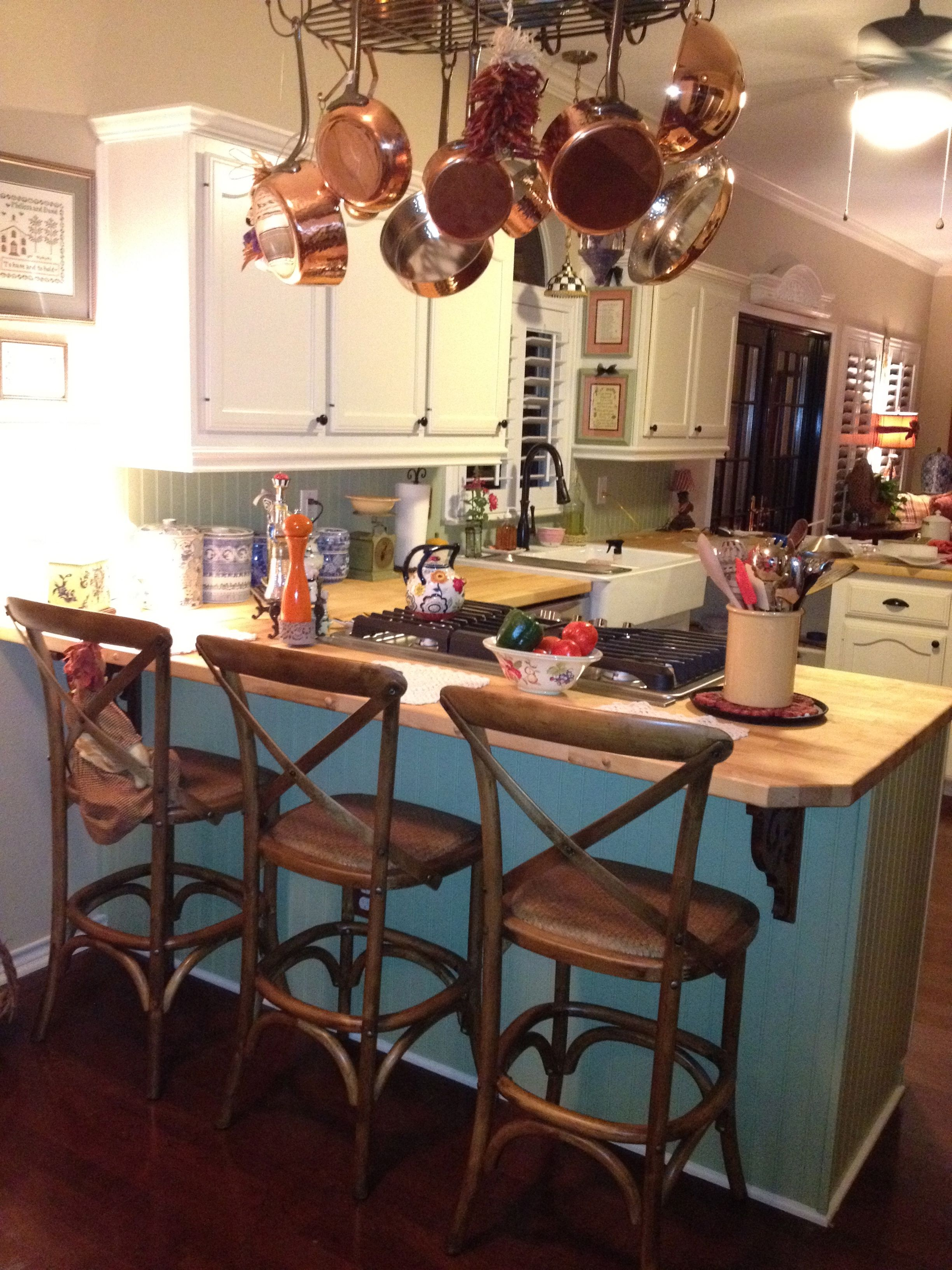 French Country Kitchen Pot Rack