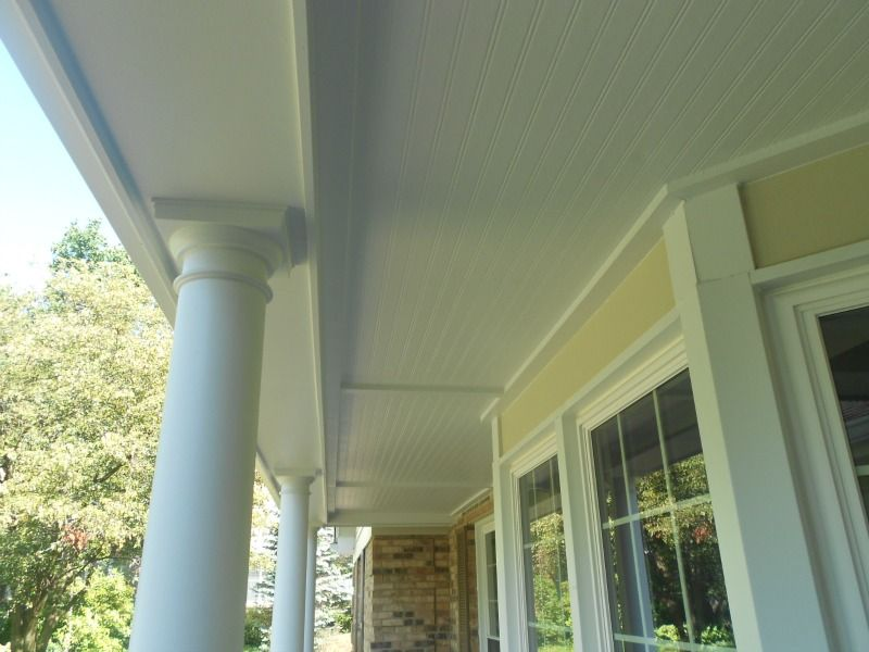 James Hardie White Beaded Panel Porch Ceilings