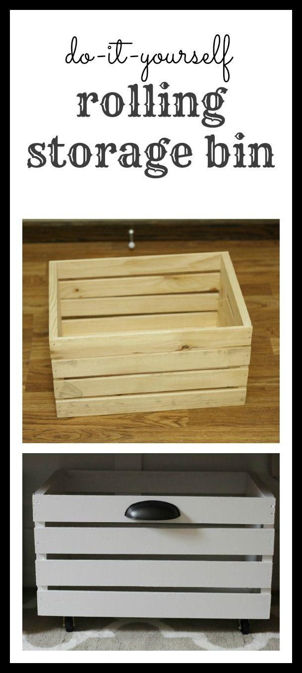 Diy rolling storage bin rolling storage bins storage and pantry diy rolling storage bin solutioingenieria Gallery