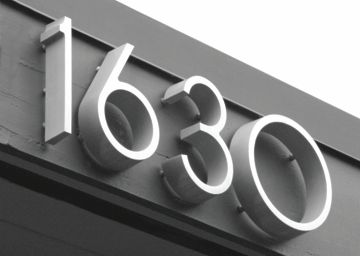 Metal Letters And Numbers Weston Letters  Architectural Address Numbers50 Fonts 12 Metal