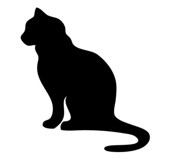 Silhouette chat recherche google cat path 4 pattes - Dessin chat assis ...