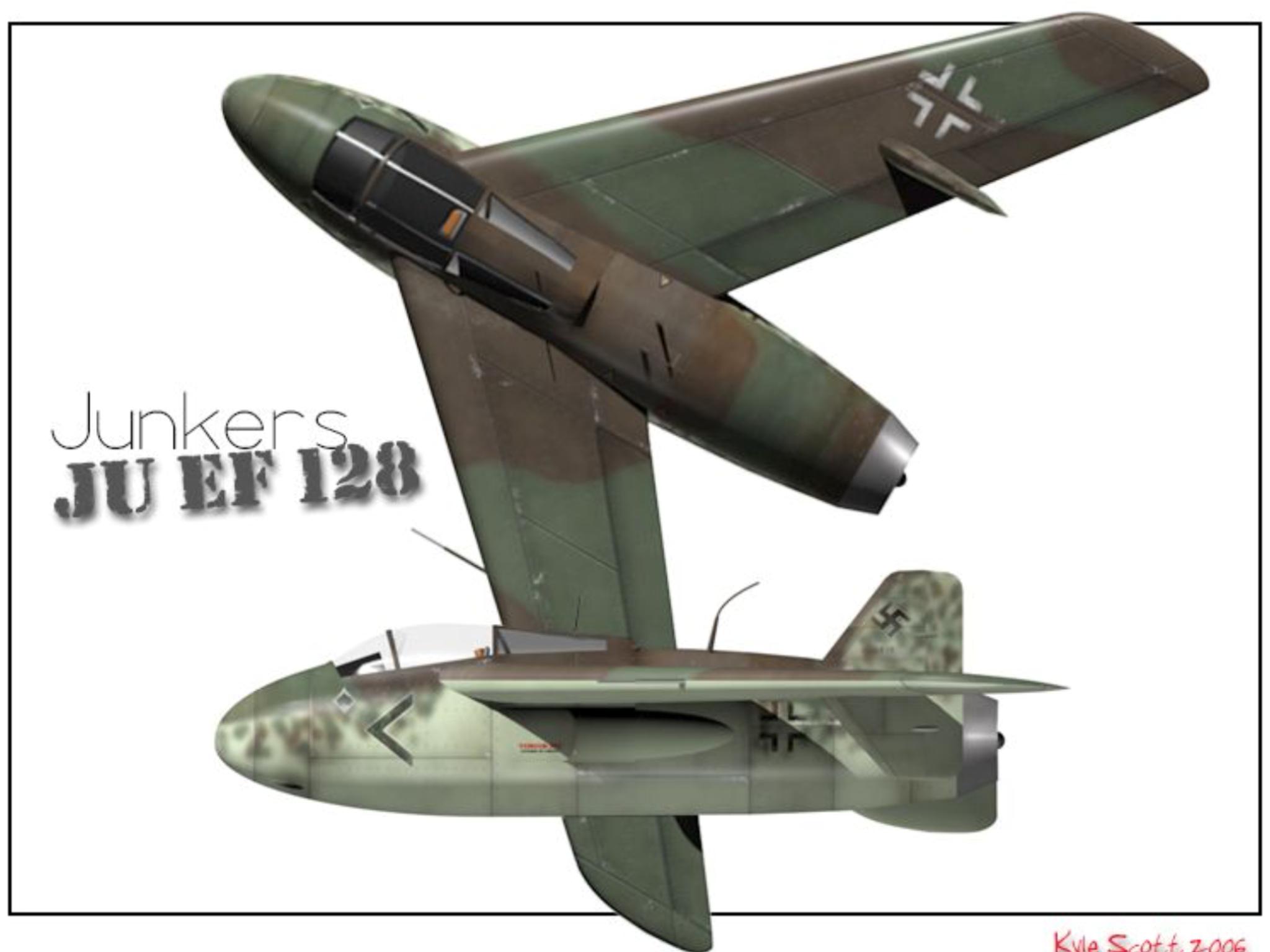 Junkers JU EF128 bomber interceptor concept