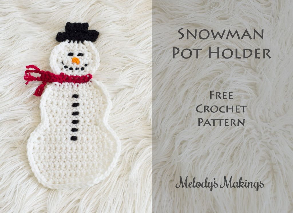 Snowman Pot Holder Crochet | CROCHET CHRISTMAS | Pinterest | Bordes ...
