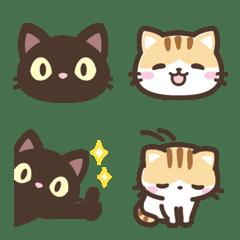 It Is A Emoji Of A Black Cat And A Calico Cat Cat Emoji Calico Cat Chibi Cat