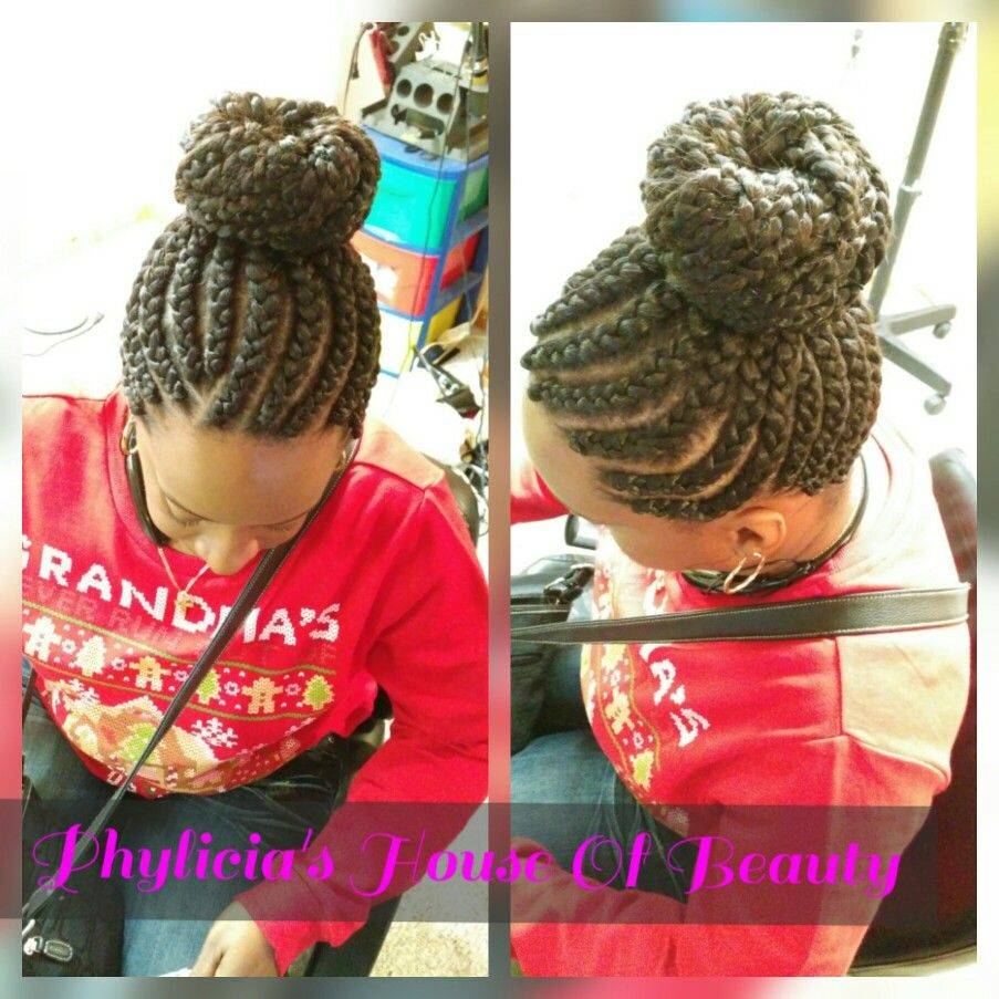 French braids wbun phyliciaus house of beauty pinterest