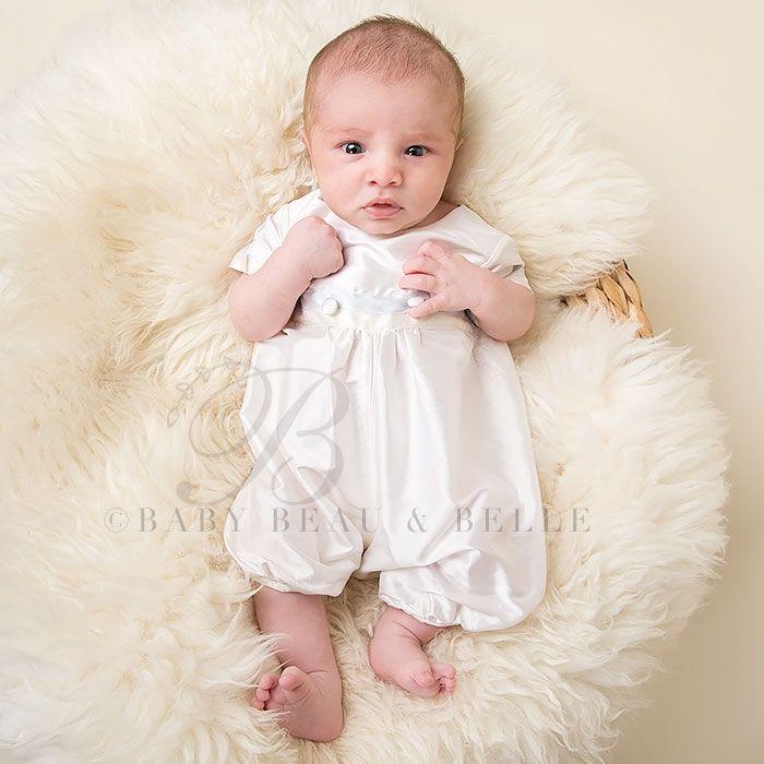 Infant Boy Jumpsuit - Tim Christening/Baptism Collection - Fancy ...
