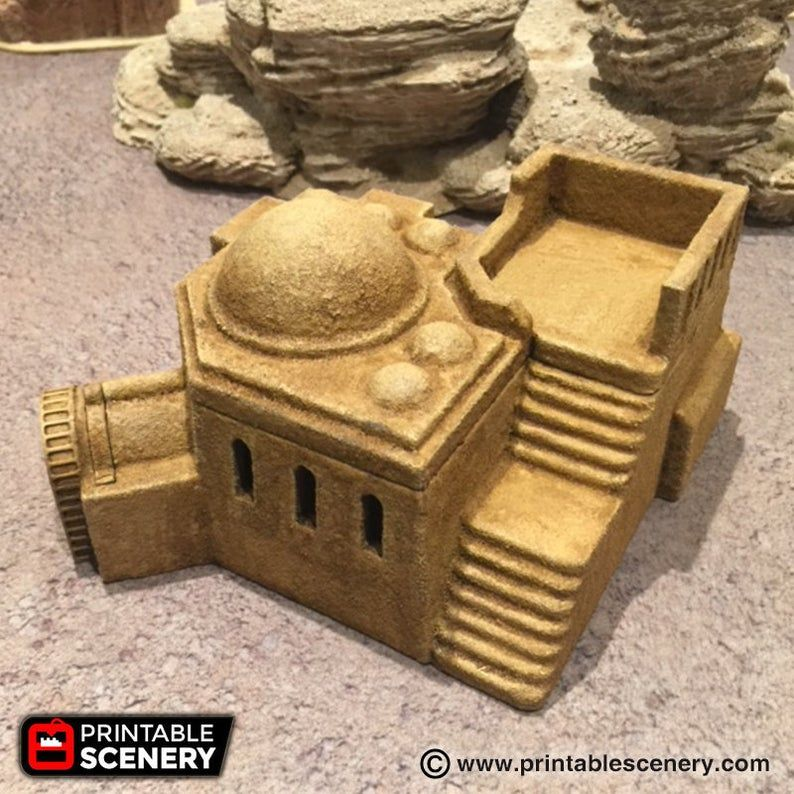 Future Buildings - Adobe Hut D 28mm 32mm Wargaming Terrain D&D, DnD, Pathfinder, SW Legion, Warhammer, 40k