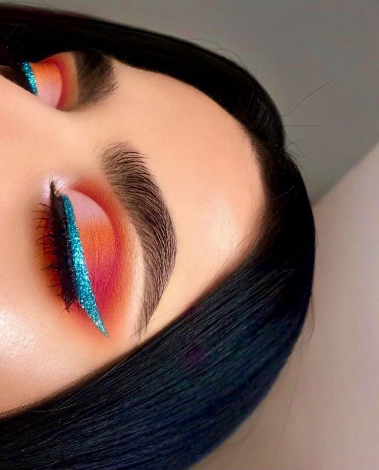 Rosy pink and blue eye makeup makeup ideas blue eyes ...