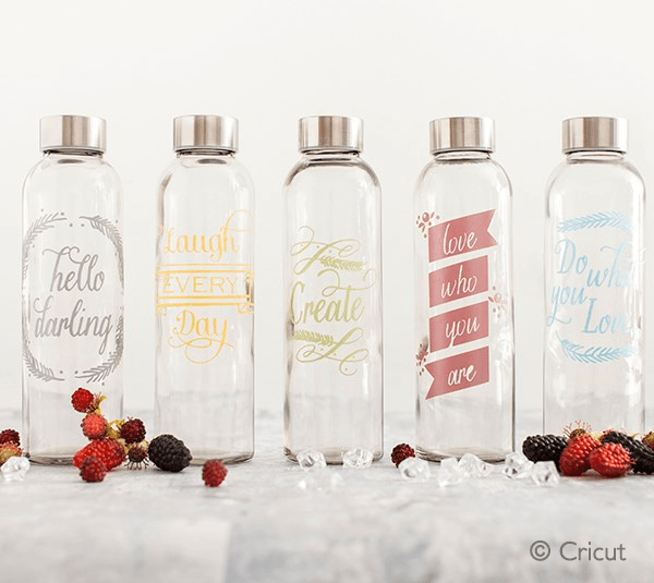Adhesive Foil Designs On Water Bottles Diy Water Bottle Decorated Water Bottles Water Bottle Design