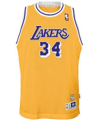 b055afaa1 adidas Shaquille O Neal Los Angeles Lakers Retired Player Swingman Jersey
