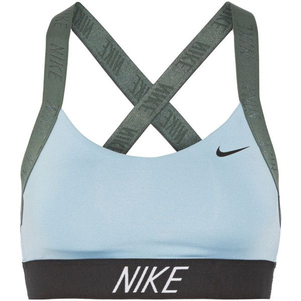 Nike Pro Indy Dri-FIT stretch sports bra ❤ liked on Polyvore featuring activewear, sports bras, nike sportswear, nike sports bra, nike, nike activewear and blue sports bra
