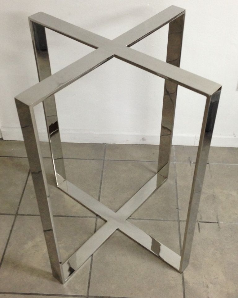 Stainless Steel Flatbar Dinning Table Leg