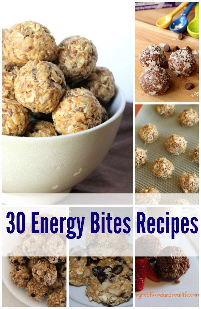 Need a quick no bake snack idea? Check out this fabulous list of 30 no bake energy bites recipes - lots of great variations to chose from!