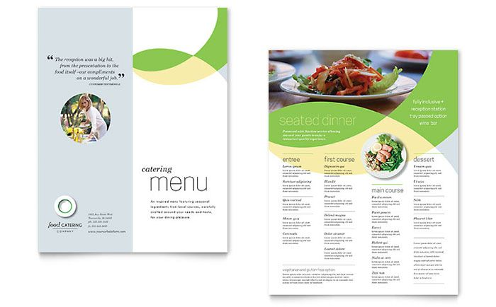 Food Catering Menu Template Design by StockLayouts CREATIVE - food menu template