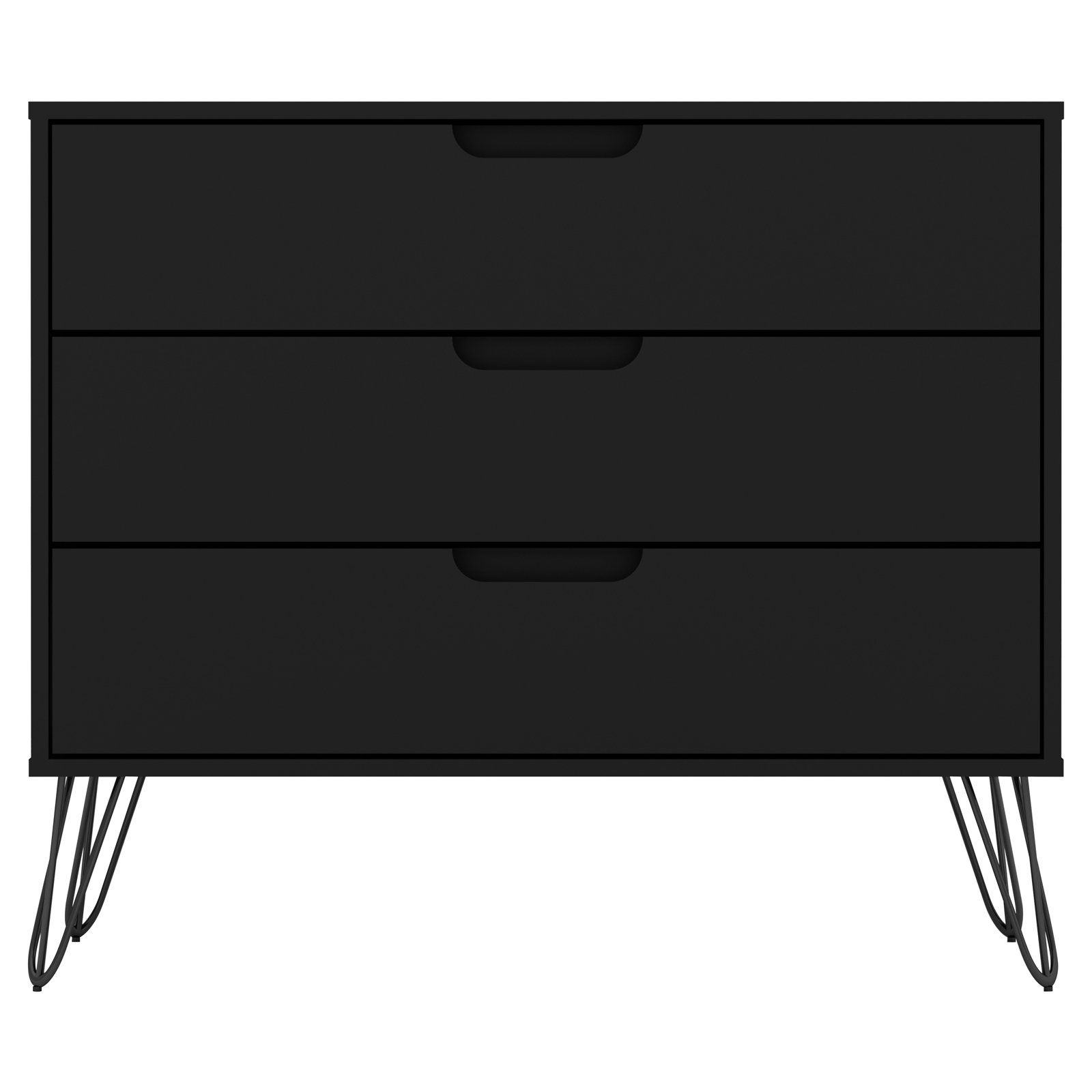 Manhattan Comfort Rockefeller 3 Drawer Dresser In 2021 Manhattan Comfort Dresser Drawers Modern Dresser [ 1600 x 1600 Pixel ]