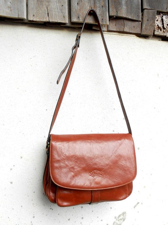 9e9ee91b36d1 Vintage FRENCH FRANCINEL Leather Shoulder Purse    by VindicoShop. Find  this Pin and more on Bags ...