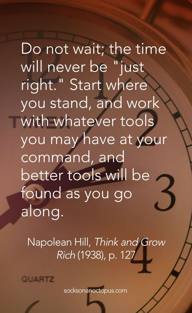 Think And Grow Rich Quotes Quote Of The Day April 9 2015  Napoleon Hill Motivation And