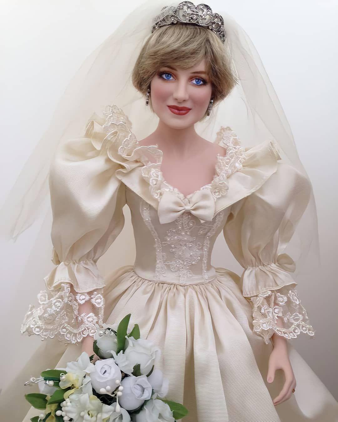 Royalty Fashion On Instagram Princess Diana Bride Doll Princessdiana Princessdianaofwales Ladyd In 2021 Bride Dolls Barbie Bridal Princess Diana Wedding [ 1350 x 1080 Pixel ]