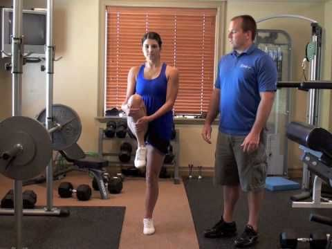 active stretching routine knee hug to quad stretch afc