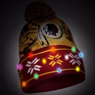 1c79da68 Washington Redskins Big Logo Light Up Holiday Printed Beanie. Order ...