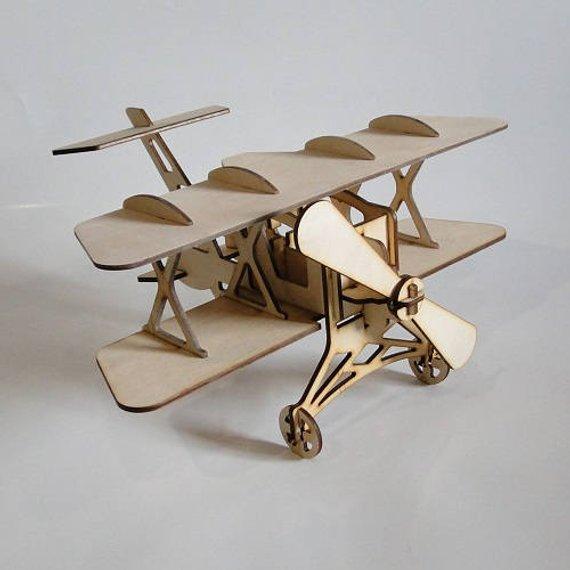 Wooden 3D Airplane Aircraft Woodcraft Construction Kit Wooden Model