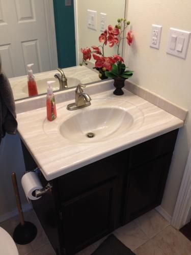 Ab Engineered Composite Vanity Top With Basin In Light Coco W31gb Lc At The Home Depot Mobile