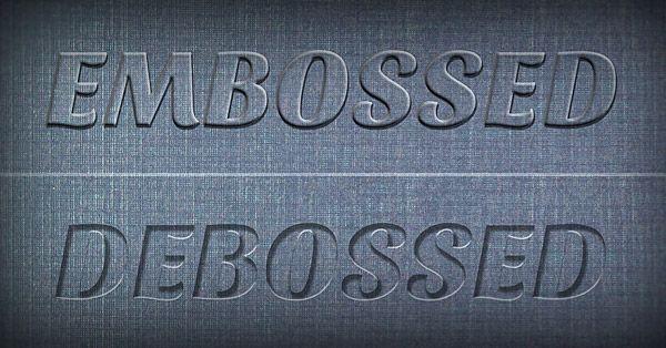 Create A Realistic Emboss Deboss Effect In Photoshop Tutorial