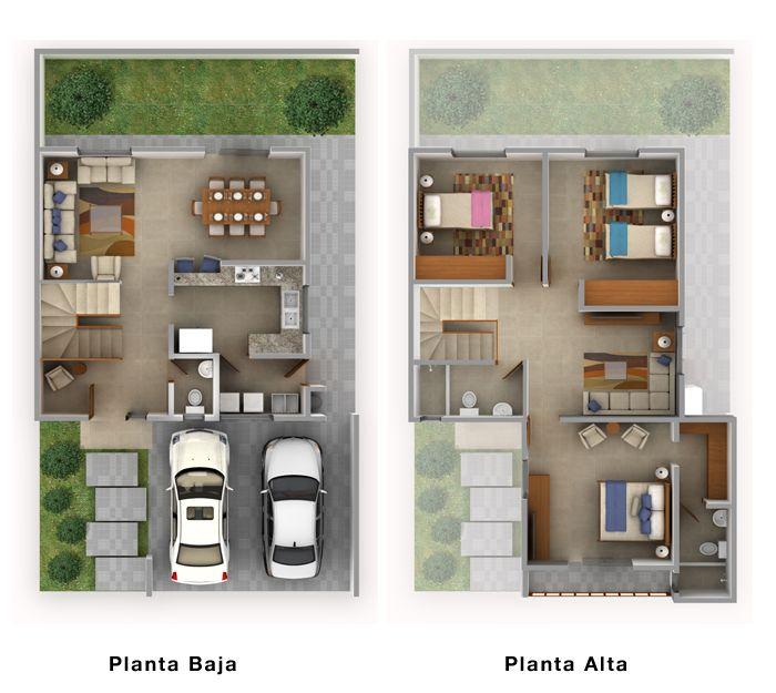 Planos de casas y plantas arquitect nicas de casas y for Departamentos arquitectura moderna