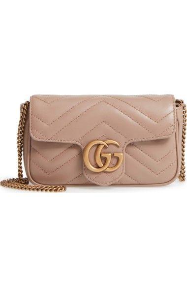 0ce39704bb GUCCI Supermini Gg Marmont 2.0 Matelassé Leather Shoulder Bag.  gucci  bags   shoulder bags  leather