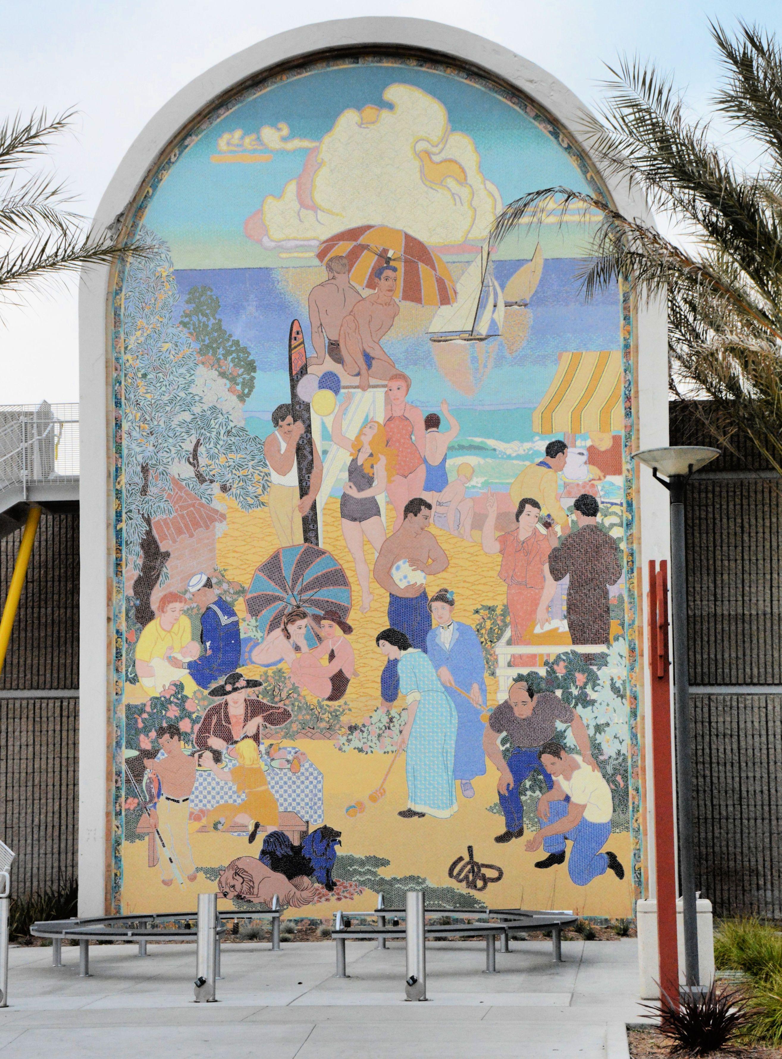 Beautiful Mosaic Mural Created In The