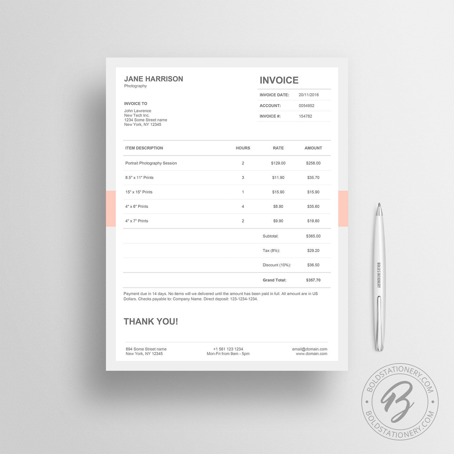 Invoice Template 05 - Receipt Template - Invoice Template for ...