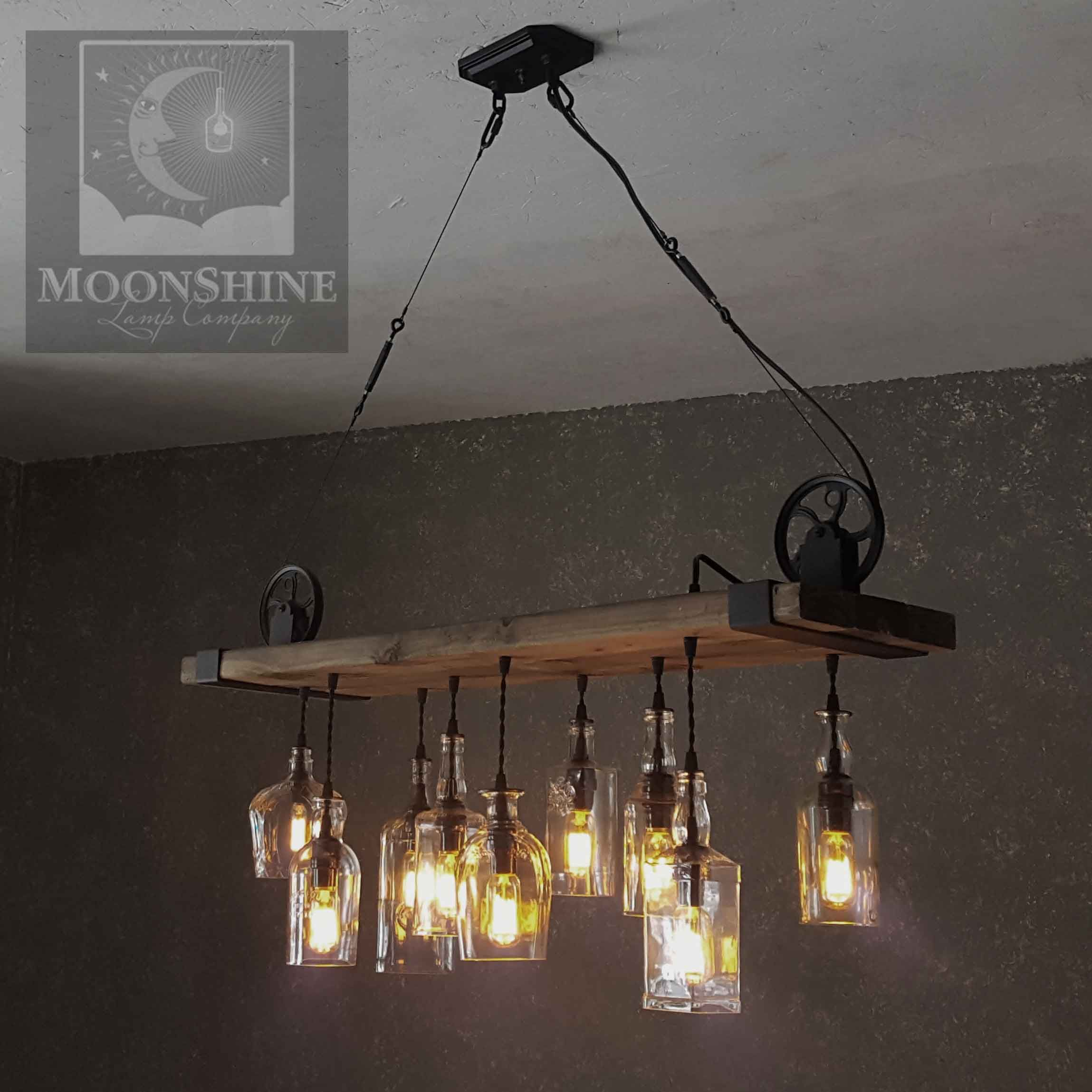 The Chesapeake Reclaimed Wood Bottle Chandelier With Images