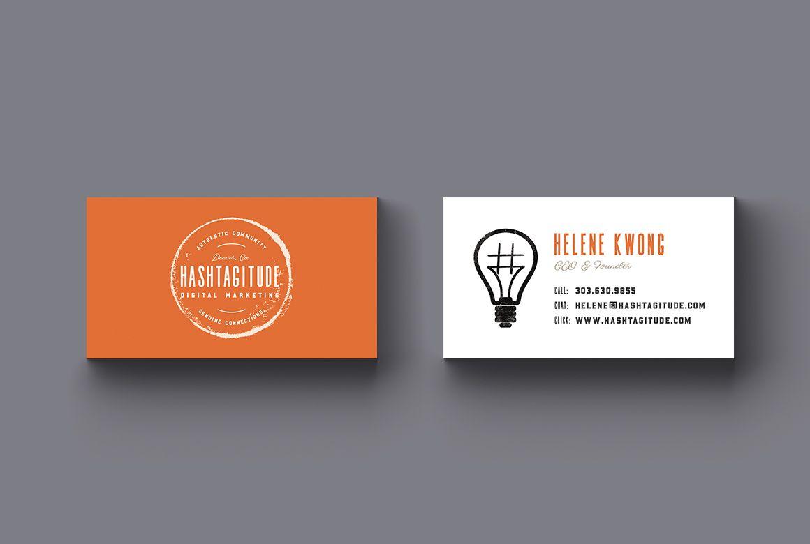 Hashtagitude orange business card design by whiskey and red hashtagitude orange business card design by whiskey and red colourmoves