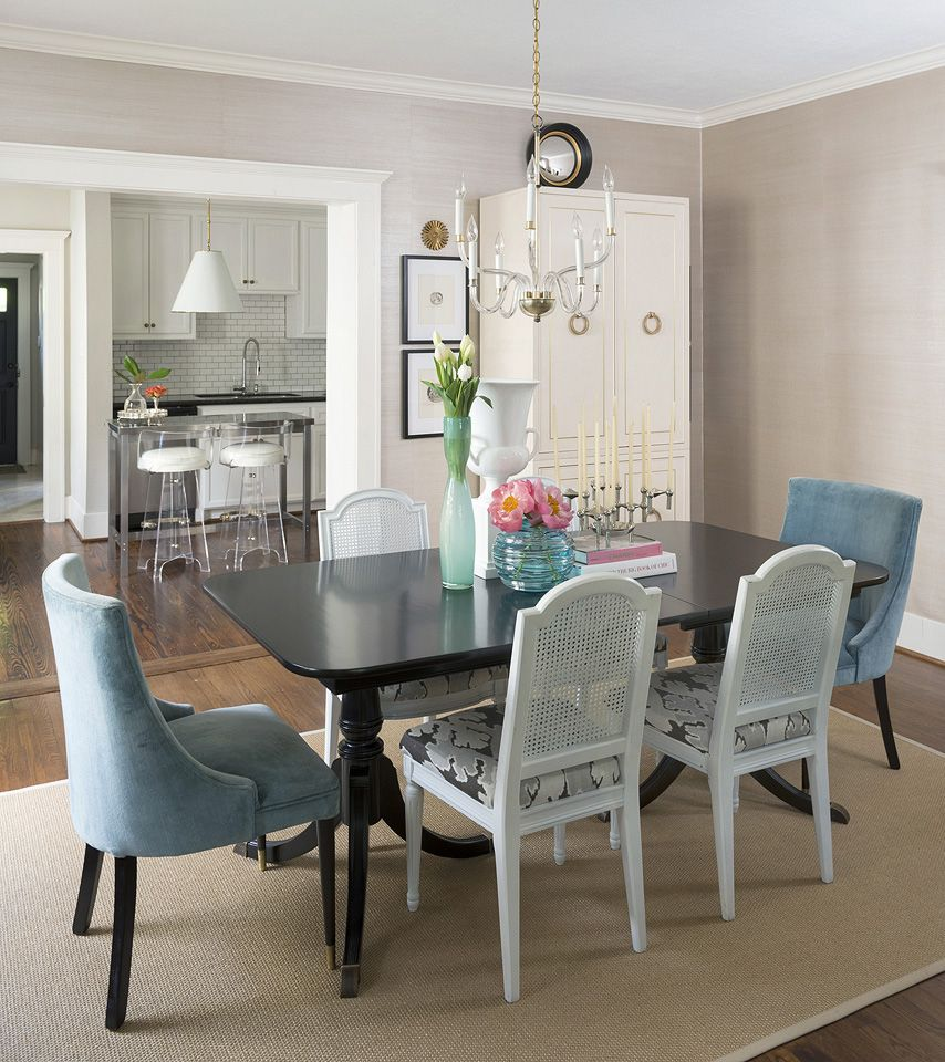 25 Beautiful Neutral Dining Room Designs: Hallie Henley Design