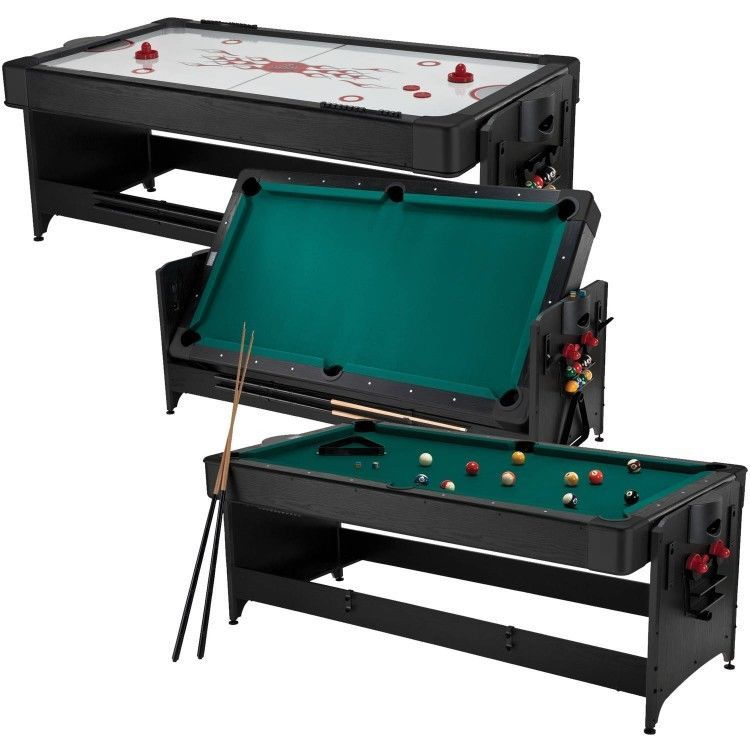In Multi Game Table Billiards Pool Table And Air Hockey W Needed - 6 1 2 foot pool table