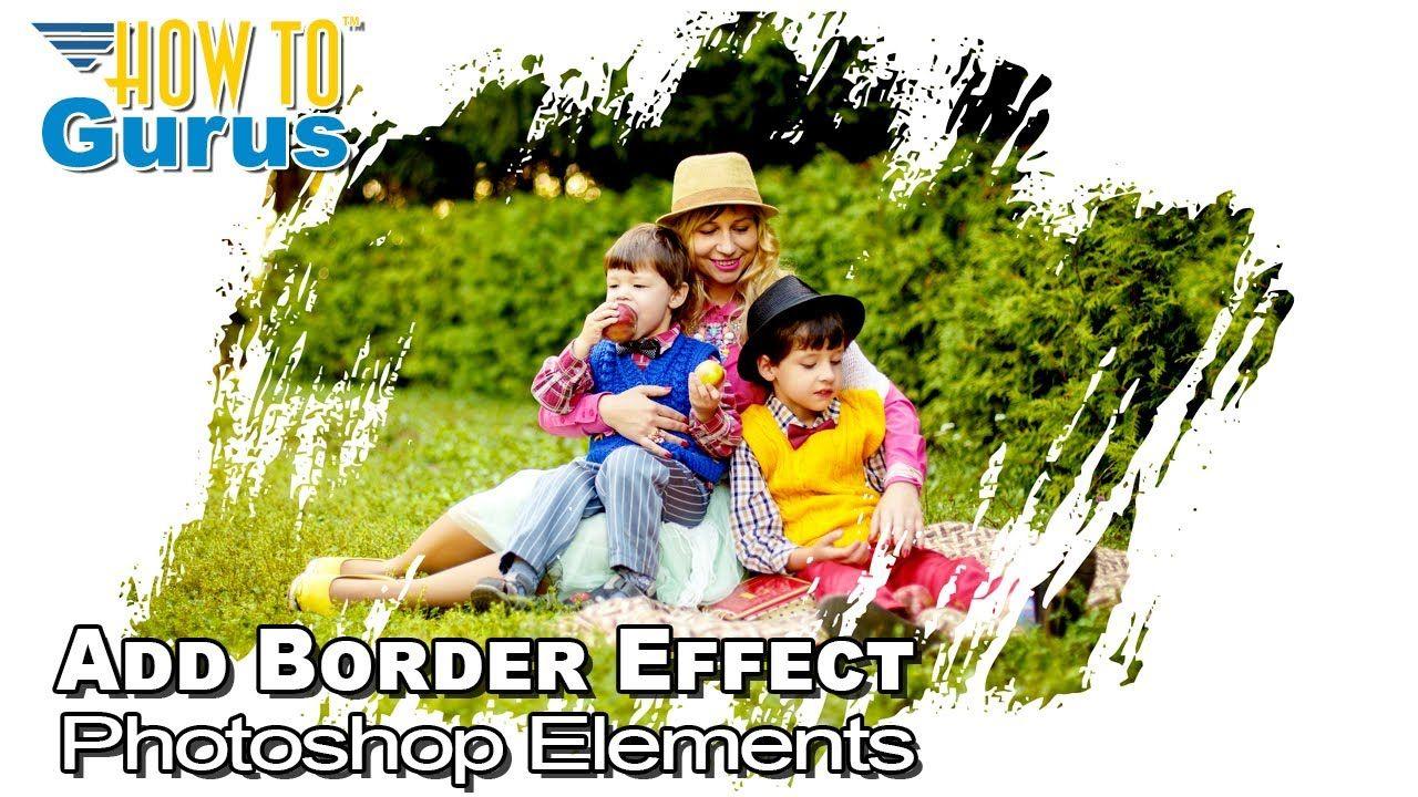 Elements Add Border for a Brush Stroke Frames