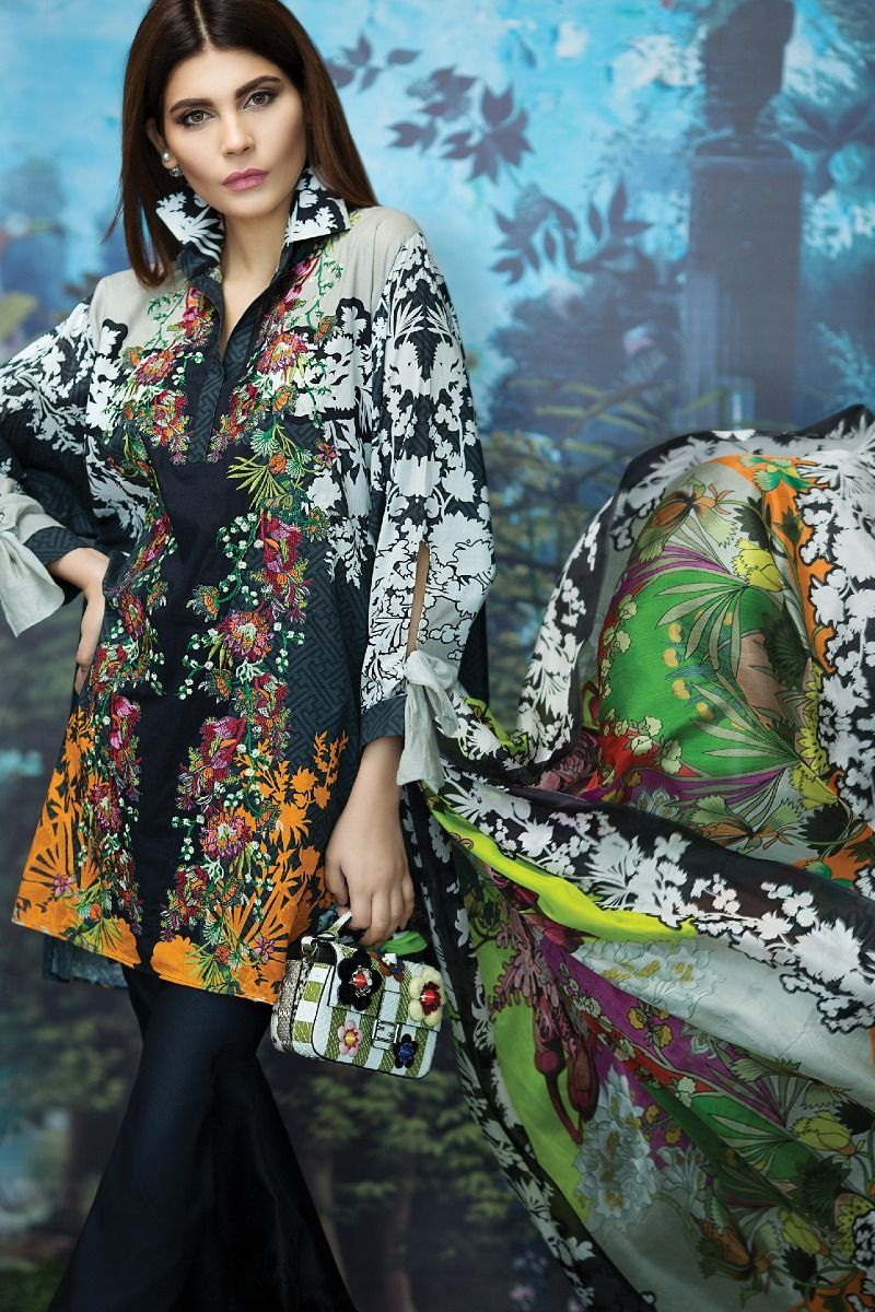 cd1c54e556 Sana safinaz Unstitched Summer Lawn Collection 2017-18. All young ladies  are ready for