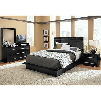Best Prima Ii Black Bedroom 6 Pc Queen Bedroom Furniture Com 400 x 300