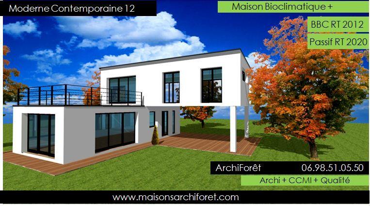 Maison toit plat et toiture terrasse bac acier ou siplast acrotere - prix d une construction de maison