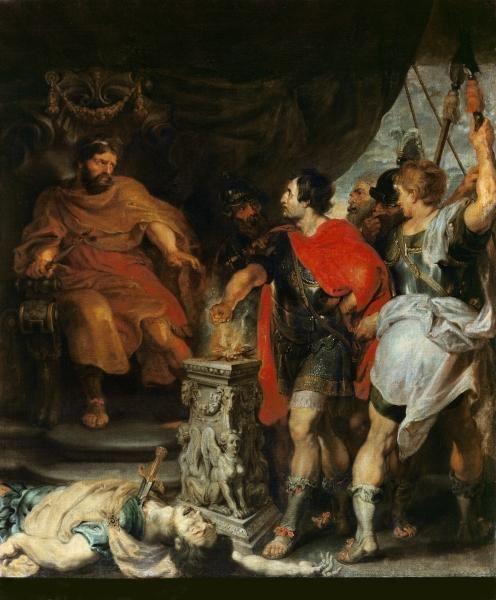 Muzio Eszevola Porsenaren aurrean, c.1618-20 / Rubens, Peter Paul