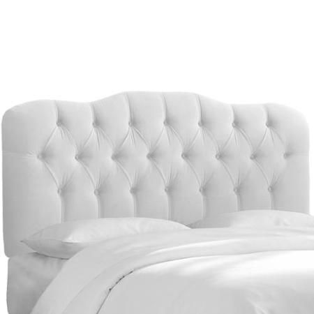 Made to Order White Tufted Headboard Queen, White